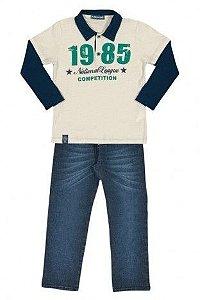 Camiseta Pólo com calça Jeans Arte Menor