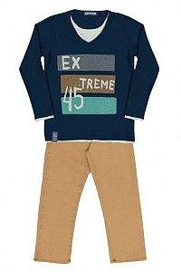 Camiseta Extreme com Calça de Sarja Arte Menor