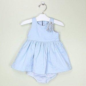 Vestido 1+1 Azul Strass