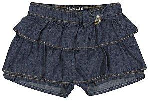 Short Arte Menor Jeans Babados