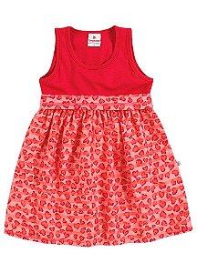 Vestido Brandili Corações Vermelho