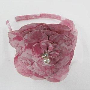 Tiara 1+1 Flor Rosa