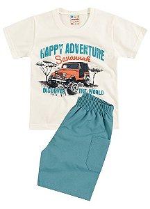 Conjunto Brandili Camiseta Cru Adventure e Bermuda