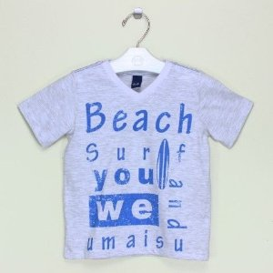 Camiseta 1+1 Cinza Beach Surf