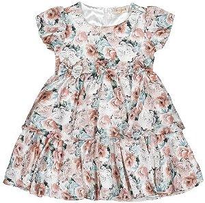 Vestido Infanti Flores do Reino