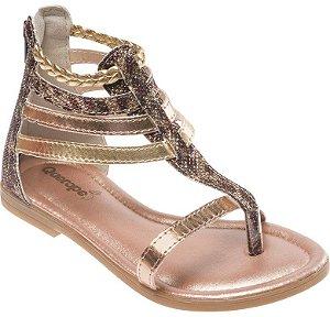 Sandália Queropé Tiras Dourada