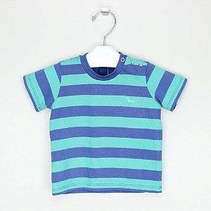 Camiseta 1+1 Listras Marinho e Verde