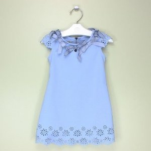 Vestido 1+1 Laços Encantados Azul