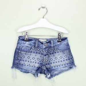 Short 2in Jeans Bordados