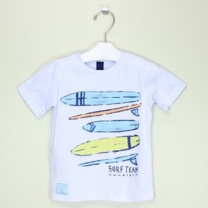 Camiseta 1+1 Prancha Branca