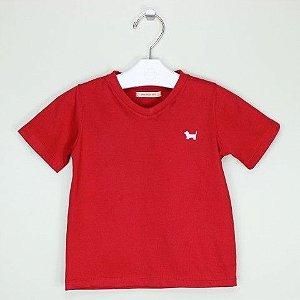 Camiseta 1+1 Vermelha Lisa