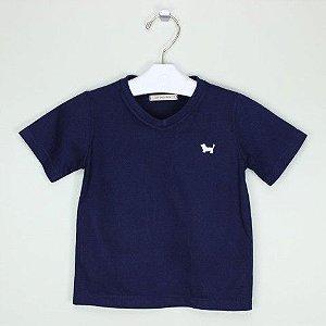 Camiseta 1+1 Marinho Lisa