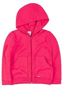 Jaqueta Brandili Moletom Pink ou Bordô Lisa