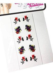 Kit 1.000 Adesivos De Unha 3d, Arte Sedução.