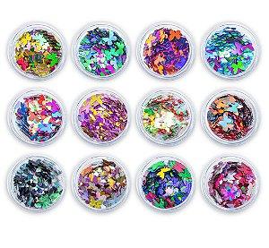 Borboletas Para Encapsulada Decoração de Unhas Gel Acrigel