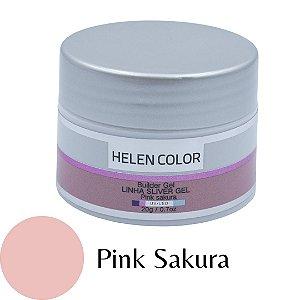 Gel para Unhas de Gel Helen Color Silver - Pink Sakura 20g
