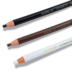 3 Lápis Dermatográfico Sobrancelha Preto, Marrom e Branco