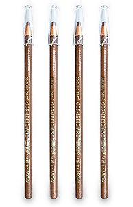 4 Lápis Dermatográfico Sobrancelha Micropigmentação Marrom