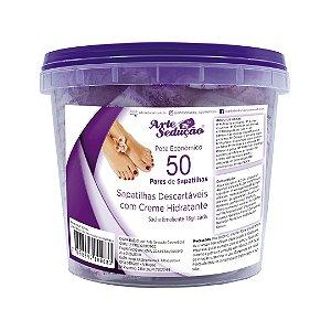 Sapatilhas Com Creme Emoliente Manicure Arte Sedução 50 Pares