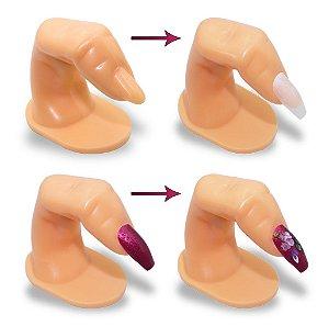 Dedo Postiço Treinamento Manicure Unhas Gel Acrigel Fibra