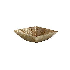 Petisqueira quadrada 10x10 gold