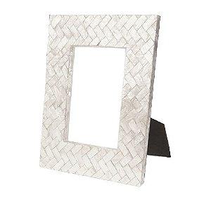 Porta Retrato em Madrepérola Mosaico Diagonal 10x15