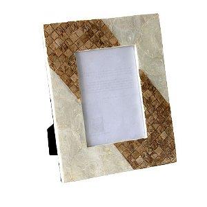Porta Retrato em Madrepérola Mosaico Diagonal 15x20