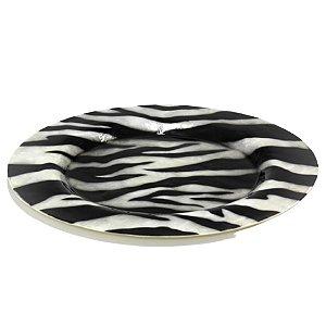 Sousplat Redondo Design Zebra