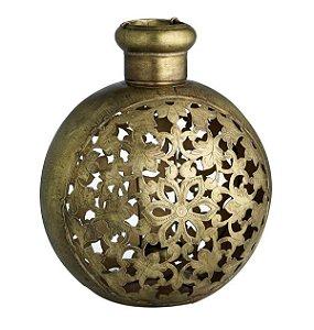 Vaso de Flores Ferro e Bronze Chattisgarh G