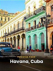 Pacote para Cuba- 4 dias + Passagem Aérea