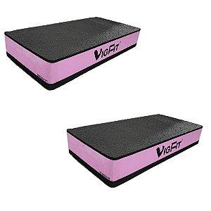 Step Academia EVA 60x30x10 cm Rosa - Kit com 2