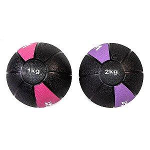 Kit Medicine Ball 1Kg e 2Kg