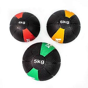 Kit Medicine Ball 4Kg 5Kg e 6Kg