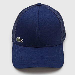 Boné Lacoste Trucker Logo Azul