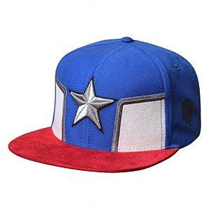 Boné Bordado Capitão América Estrela Azul