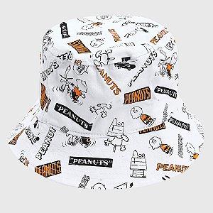 Chapéu Snoopy Bucket Hat Snoopy Branco