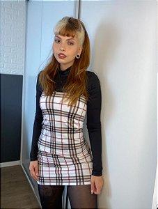 Vestido xadrez (branco #2)