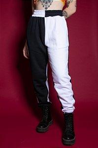 Calça Bicolor (cintura alternada)