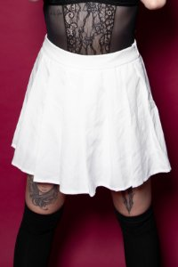 Shorts-saia tenista (branco)