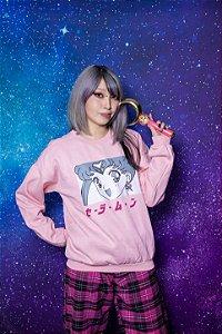 Moletom Sailor Moon #1 (rosa bebê)