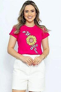 T Shirt Girassol Flor