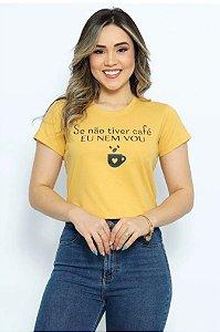 T Shirt se não tiver café eu nem vou