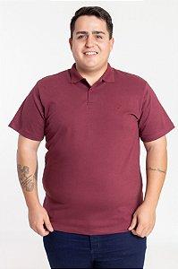 Polo Plus Size Elastano Carmim