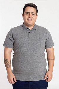 Polo Plus Size Elastano Mescla