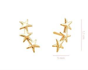 Ear Cuff Estrelas -  Banhado a Ouro