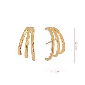 Ear Hook Filetes -   Banhado a Ouro
