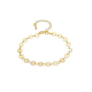 Pulseira Círculos - Banhado a  Ouro
