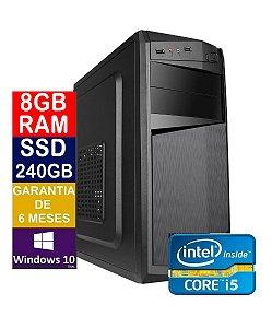 Pc Computador Cpu Intel Core I5 + Ssd 240gb, 8gb Memória Ram