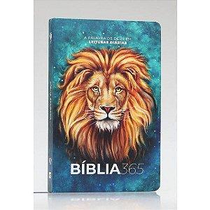 Bíblia 365 | NVT | Letra Normal | Capa Dura | Leão Aslam A Palavra de Deus em leituras diárias