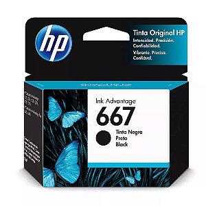 Cartucho de Tinta HP 667 Preto 3YM79L